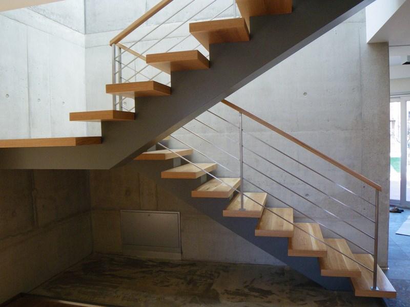 One Center Beam Stair